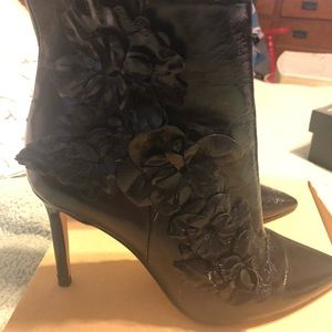 Zara floral detail boots